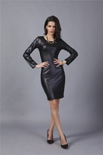 New coming charm design european style leather dress