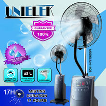 House mini water spray fan mist spray water cooling fan pedestal water room cooler fan