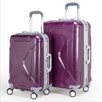ABS+PC siuitcase trolley bag luggage purple for travel