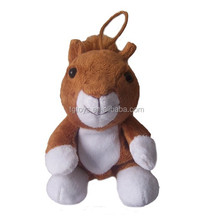 12 years manufactuer supply OEM special design animal squirrel 12cm keychian toys