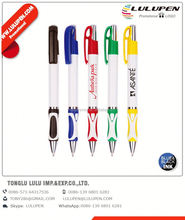embassy click promotional pen (digitally printed); ballpoint pen for touchscreen mobile devices; brush with ball pen