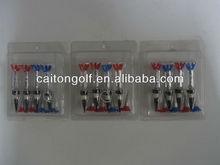 Popular plastic tee magnet golf tee golf marks