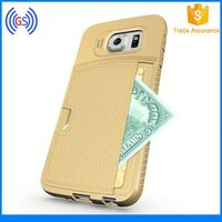 Newest TPU Leather Wallet Credit Card Case For Samsung Galaxy S6