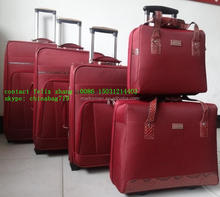 hot sale cool travel suitcase 5 piece set rolling luggage case