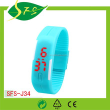 New design LED silicone watch with adjust straps casual looks and waterproof