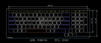 Nano silver Keyboard Protector cover for Asus g750