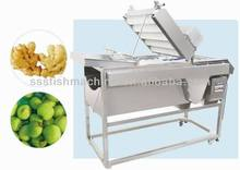 double brush type cleaning machine stainless steel used for ginger garlic strawberries potato carrots jujube sweet potato