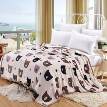lightweight cheap travel solid color fleece blankets/bed covers wholesale