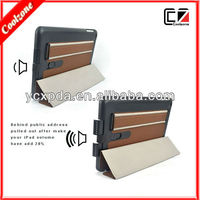 multi-function pu leather case for ipad mini accessories