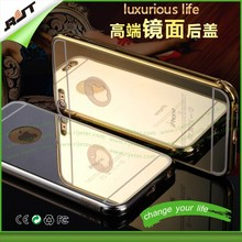 24K rose gold All in one Luxury Aluminum Acrylic cell phone case with mirror, for iphone 6 mirror case