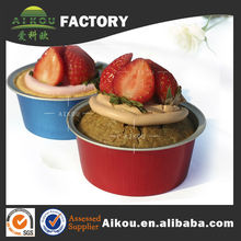 food grade novelty aluminum cupcake boxes with color printed