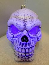 Halloween decorative resin skull head