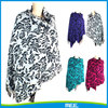 grass-blade print pashmina shawl scarf