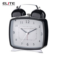 girl bedroom decorating square twin bell alarm clocks