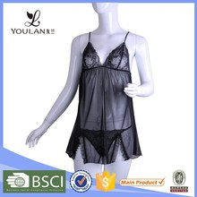 OEM Service Monotonous Matching Thong Polyester Lover Japanese Mature Women Sexy Nude Babydoll Lingerie