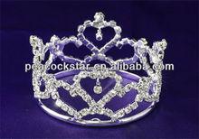 Bridal Wedding Prom Heart Flower Girl / Baby Rhinestone Full Circle Round Mini Crown CT1735