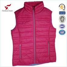 mujeres chaleco chaleco alta calidad chaqueta de algodón DuPont