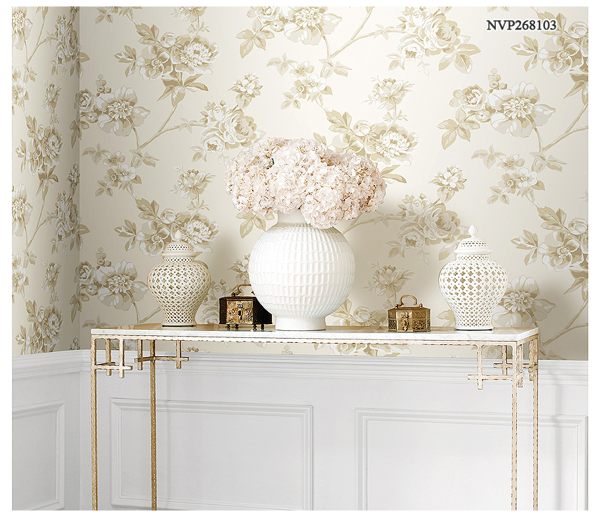 Behang voor op de slaapkamer industri le slaapkamer met romantisch behang idee n ikea - Moderne slaapkamer behang ...