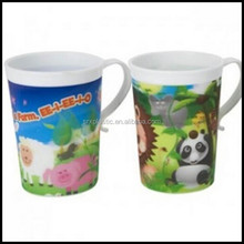 Lenticular 3D Kids Conical Shape Plastic Cup Mug Beaker Drink cup for kids,custom plastic beaker cup manufacturer