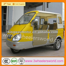 China Supplier Closed Cabin Passenger Tricycle With Side Doors For Sale