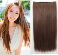 South Korea's new 5 clip hair thickening straight hair false realistic Europe and the United States Hair welf