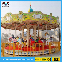 2015 Hot selling amusement park merry go round rides carousel horse for sale
