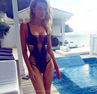 ladies sexy hollowed-out one piece bathing suit