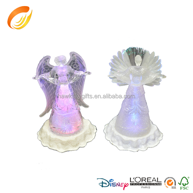 Hot sale rgb custom polyresin home decor angel figurines for christmas decoration buy angel - Angels figurines for sale ...