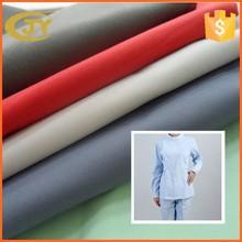 white dyed plain woven tc cvc 45s poplin fabric for nurse , shirt , school uniform