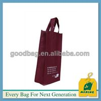 2014 High Quality Eco-friendly recyclable reusable non woven wine bag MJ-NW0326-C