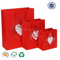U color Customized printed purple glossy shopping paper bags