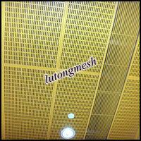 Aluminium perforated metal mesh laser cut panels