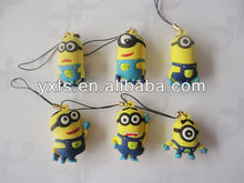 Despicable Me Minion Stewart Figure Pvc Keychain Keyring Child Gift Style Lovely