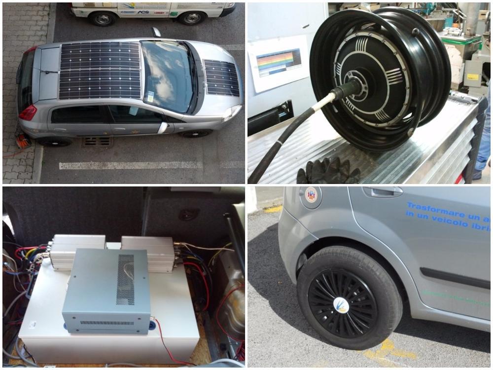turning a car into a hybrid solar vehicle. Black Bedroom Furniture Sets. Home Design Ideas