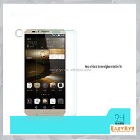 2015 hot new products,hight quality 9H hardness 2.5D round edge tempered glass screen protector for Huawei Mate 7