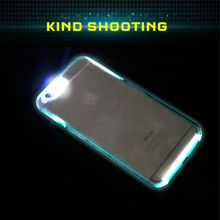 Crystal cover with Glow in the dark silicone flash light case for iphone 6