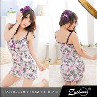 Charming Girl Pink Underwear Lingerie Sexkiss Sexy Babydoll Negro Transparente