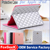 High quality leather Case Cover with Stand and Auto wake-up/Sleep function for iPad air for ipad mini/for ipad 2 3 4 /Air,Air2