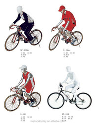 2015 fashion sports mannequins for window display ridding on bike