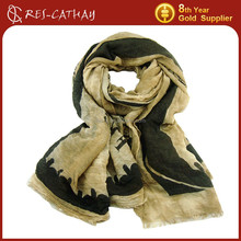 2015 new tie dye dupatta scarf stole dupatta eiffel tower pattern