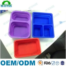 FDA standard BPA free tiffin lunch box / kids lunch box / silicone folding lunch box