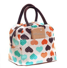 Cute Love Heart Lunch Tote Bag / polyester Lunch tote bag