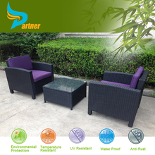 PTN-E-023 Anhui Partner Backyard Outdoor Daybed Poly Wicker Zen Garden Benchcraft Rattan Furniture Outdoor
