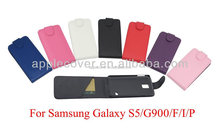 Low price leather flip mobile phone cover Case for Samsung S5 , for samsung galaxy S5 case