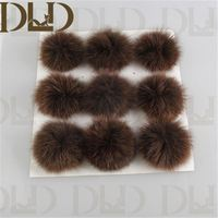 real rabbit fur pompom knitted hat custom knitted pom beanie hat for decoration