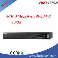 2015 hot sale Hikvision 4ch nvr with 4 poe 1sata hdd with 2 usb interface DS-7604NI-E1/4P