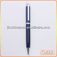 Metal blue jeweled ball pen