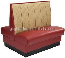 2015 New design!Modern restaurant furniture leather sofa for sale GBG9024