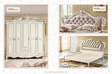 Classical living room genuine leather sofa set
