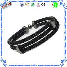 Popular fashion jewelry new design man leather peace bracelet, Innovative Business Gift